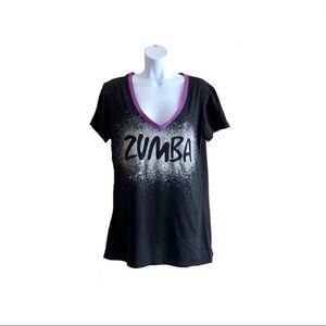 ZUMBA Black Tee Size XXL